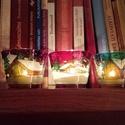 """""""Havas táj haranggal"""" mécsestartó, Otthon, lakberendezés, Dekoráció, Gyertya, mécses, gyertyatartó, Üvegművészet, A magyal, a harang és az ablakból látott havas táj a karácsony és a tél klasszikus hozzávalói. :)  ..., Meska"""