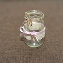vintage üveg mécses, Dekoráció, Esküvő, Otthon, lakberendezés, Esküvői dekoráció, , Meska