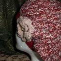 szinterápia, Ruha, divat, cipő, Kendő, sál, sapka, kesztyű, Sapka, Horgolás, Szin átmenetes horgolt sapka a passz része rozsdabarna.Bő fazon  mérete 54-56-21cm  középvastag gyap..., Meska