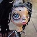 Barbara baba / papírmasé-textil, Otthon, lakberendezés, Képzőművészet, Dekoráció, Dísz, Baba-és bábkészítés, Újrahasznosított alapanyagból készült termékek, Barbara baba / papírmasé-textil  Ez a baba egyedi és különleges (OOAK), mert feje (törzse, kézfeje ..., Meska