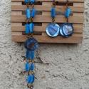 Kagylószív :) szett, Ékszer, óra, Ékszerszett, Karkötő, Fülbevaló, Ékszerkészítés, Gyöngyfűzés, Bronz színű fülbevaló alapra kétféle formájú (henger és szív) kagylógyöngyöt raktam 2 kagylógombbal..., Meska