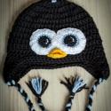 Pingvin sapi (pingvines sapka), Baba-mama-gyerek, Ruha, divat, cipő, Kendő, sál, sapka, kesztyű, Sapka, , Meska