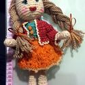 Horgolt Baba öltöztethető, Játék, Baba-mama-gyerek, Baba játék, Baba, babaház, Horgolás,  Kb, 30 cm magas. Erős tartású szőnyeg fonalból, vagyus gyapjú tartalmú fonalból készült baba. Emia..., Meska