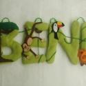 Dzsungel név banner, Baba-mama-gyerek, Gyerekszoba, Baba falikép, , Meska