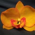 phalaenosis (lepke) orchidea virág - narancssárga, Dekoráció, Otthon, lakberendezés, Dísz, , Meska