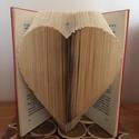 Szív 3D könyv, Dekoráció, Esküvő, Otthon, lakberendezés, Nászajándék, , Meska