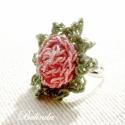 Rózsás ujjak - horgolt gyűrű, Ékszer, óra, Gyűrű, Horgolás, Aprócska és kedves, romantikus hangulatot hoz a rózsás gyűrű.  (Sajnos a postaköltséget nem lehet c..., Meska