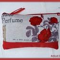 Párizs mintás neszesszer - piros, Táska, Neszesszer, Varrás, Romantikus hangulatú neszesszer. Párizs mintás vastagabb vászonból és piros színű farmervászonból k..., Meska