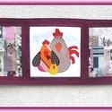 Tavaszi - húsvéti asztali futó, terítő - baromfi család, Otthon, lakberendezés, Dekoráció, Lakástextil, Terítő, Varrás, Egyedi, saját ihletésű tavaszi- nyári terítő.    Gyönyörű patchwork mintás pamutvászonból készült a..., Meska