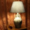 Kerámia asztali lámpa 2, Otthon, lakberendezés, Lámpa, Asztali lámpa, Kerámia, Kézzel készített egyedi kerámia asztali lámpa. A lámpatest kézzel polírozott, viaszos felületű samo..., Meska
