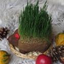 Őszi búza süni! , Otthon, lakberendezés, Dekoráció, Karácsonyi, adventi apróságok, Ünnepi dekoráció, Karácsonyi dekoráció, Ez az aranyos kis búzasüni az ősz egyik új kedvence lehet, de akár karácsonykor is a fa alá tehetjük..., Meska
