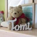 TOMI - nevek fából!, Dekoráció, Dísz, Elkészült egy kedves kis babának ez a TOMI felirat, ami ideális baba szobába, aranyos dekorációnak. ..., Meska