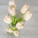 tavaszi tulipán , Dekoráció, Húsvéti apróságok, Varrás, Mindig friss és üde tulipáncsokrot készítettem. Többféle színösszeállításban.   Nagyon szép ajándék..., Meska