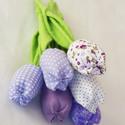 tavaszi tulipán , Dekoráció, Húsvéti apróságok, Varrás, Mindig friss és üde tulipáncsokrot készítettem. Többféle színösszeállításban.  Kellemes tavaszi han..., Meska