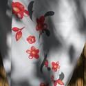 Virág mintás körsál, Ruha, divat, cipő, Kendő, sál, sapka, kesztyű, Sál, Női ruha, Varrás, Rendkívül kellemes tapintású pamut jerseyből készült ez a keleties hatású, halvány szürke alapon vi..., Meska