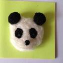 Panda anya, Baba-mama-gyerek, Ruha, divat, cipő, Ékszer, óra, Bross, kitűző, , Meska