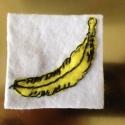 Andy Warhol - Velvet Underground banán, Ékszer, óra, Ruha, divat, cipő, Bross, kitűző, , Meska