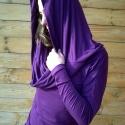 nagy nyakú ruha, Ruha, divat, cipő, Női ruha, Felsőrész, póló, Ruha, Varrás, Kámzsás nyakú, denevér ujjú ruha, puha, elasztikus viszkóz anyagból varrva.  Nadrággal, harisnyával..., Meska