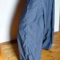 kék nadrágszoknya- hosszú, Ruha, divat, cipő, Női ruha, Nadrág, Varrás, Pamut ingfarmer anyagból varrott bő, mély ülepű nadrág asszimetrikus gombbolással. , Meska