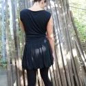 kicsi fekete ruha, Ruha, divat, cipő, Női ruha, Szoknya, Ruha, Varrás, Két réteg elasztikus viszkóz anyagból varrott ruha.  Csak rendelésre, egyedi méret alapján. Rendelh..., Meska