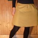 mustár szoknya, Ruha, divat, cipő, Női ruha, Szoknya, Varrás, AKCIÓ!!!!! 9500 helyett 8500Ft! 100% gyapjú szövetből készült kerek szoknya zsebbel, oldalt zippzár..., Meska