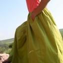 színes nyári szoknya, Ruha, divat, cipő, Női ruha, Szoknya, Varrás, Pamut vászonból varrott nyári szoknya élénk színekben, zsebbel, derékban gumirozva. Egyedi méretek ..., Meska