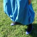 encián szoknya, Ruha, divat, cipő, Női ruha, Szoknya, Varrás, A-vonalú csípőszoknya zsebbel, oldalt zippzárral, alul rugalmas gumival összehúzva. Tetszőleges hos..., Meska