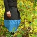 két színű szoknya, Ruha, divat, cipő, Női ruha, Szoknya, Varrás, alul felül behajtott, térdig érő, hordó formájú szoknya, két féle színű anyagból, oldalt zippzárral..., Meska
