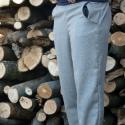 kék nadrág elasztikus övrésszel, Ruha, divat, cipő, Női ruha, Nadrág, Varrás, Mélyített ülepű nadrág, viszkóz-len szövetből, puha viszkóz dzsörzé övrésszel egyedi méretre rendel..., Meska