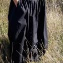 fekete bő harangszoknya, Ruha, divat, cipő, Női ruha, Szoknya, Varrás,  Fekete pamutkartonból készült harang alakú nagyszoknya zsebekkel. Oldalt zippzározható, alja ponto..., Meska