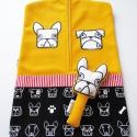 Bulldog! sárga óvodai zsák kutyás mintával(angol ill.francia bulldog), Baba-mama-gyerek, Gyerekszoba, Tárolóeszköz - gyerekszobába, Falvédő, takaró,   Saját tervezésű mintából készült az alapanyag, melyet ehhez az óvodai zsákhoz felhasználtam. Egy f..., Meska