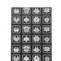 Matyó piktogrammok szitanyomat, Baba-mama-gyerek, Karácsonyi, adventi apróságok, Gyerekszoba, Baba falikép, Egy matyó virágokból és piktogrammokból létrehozott nyomat(keret nélkül) képezi az eladás tárgyát, m..., Meska
