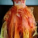 AKCIO narancs egyedi alkalmi ruha, Ruha, divat, cipő, Női ruha, Estélyi ruha, Esküvői ruha, Varrás, Gyönyörű egyedi alkalmi ruha. Ballagásra,esküvőre esetleg menyasszonyi ruhának ajánlom. Felső része..., Meska