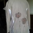 AKCIO  gyöngyvirágos rövid bélelt kabátka, Ruha, divat, cipő, Női ruha, Kabát, Újrahasznosított alapanyagból készült termékek, Varrás, Pamut,vászon kombinációja ez a kabátka. Vintage stilusa,alkalmassá teszi sportos viselethez. Gyöngy..., Meska