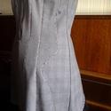 AKCIO pepita fekete csipkés ruhácska, Ruha, divat, cipő, Női ruha, Ruha, Újrahasznosított alapanyagból készült termékek, Varrás, Vintage ruhácska pepita és kockás anyag kombinációja.Fekete csipkével díszítve. Mérete36-38. Moshat..., Meska
