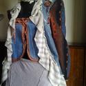 AKCIO vintage farmer frakk, Ruha, divat, cipő, Női ruha, Kabát, Újrahasznosított alapanyagból készült termékek, Varrás, Egyedi farmer frakk fodrokkal diszitve. 36-38méret Gépben is mosható. Minden terméket szegedi postá..., Meska