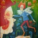 tündérkert III., Dekoráció, Képzőművészet, Kép, Festett tárgyak, Mindenmás, A kép feszített vászonra készült akril festékkel. A méretei:40x50xx2cm, Meska
