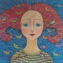 tündérkert , Dekoráció, Képzőművészet, Kép, Festett tárgyak, Mindenmás, A kép feszített vászonra készült akril festékkel. A méretei:40x50xx2cm, Meska