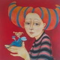 Kékmadár, Dekoráció, Képzőművészet, Kép, Festett tárgyak, Mindenmás, A kép feszített vászonra készült akril festékkel. A méretei:40x50xx2cm, Meska