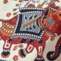 Fekete elefántos válltáska, Ruha, divat, cipő, Táska, Baba-mama-gyerek, Válltáska, oldaltáska, Patchwork, foltvarrás, Varrás, Kordbársony és pamutvászon alapanyagból készült, középrész egy-egy hajtással díszített táska. Felső..., Meska