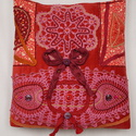 Rózsaszín, 2 csipkés, bordó masnis, vitage válltáska, virág mintás anyaggal, Ruha, divat, cipő, Táska, Baba-mama-gyerek, Válltáska, oldaltáska, Horgolás, Varrás, Egész évben jól kihasználható, rózsaszín csipkés, romantikus, vintage táskát készítettem, hogy feld..., Meska