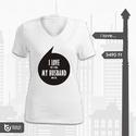 I love my boyfriend / husband, Ruha, divat, cipő, Női ruha, Felsőrész, póló, Fotó, grafika, rajz, illusztráció,  Fiúk - Urak! Trükkös és vicces póló párotoknak! I LOVE (this t-shirt) MY BOYFRIEND/HUSBAND (loves ..., Meska