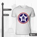 Szuperhős pólók 1-3. képeken (Amerika Kapitány - Vasember - Tininindzsa), Férfiaknak, Ruha, divat, cipő, Urban pólók, Fotó, grafika, rajz, illusztráció, Szuperhős pólók!!  1. kép: Amerika Kapitány  2. kép: Vasember (feláras színes pólóra, aminek árát j..., Meska