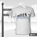 Horgász póló, Férfiaknak, Ruha, divat, cipő, Horgászat, vadászat, Urban pólók, Fotó, grafika, rajz, illusztráció, Horgászok Figyelem! Az evolúció csúcsa ti lehettek ezzel a pólóval.  Legyen az gyereknek, nőnek, va..., Meska