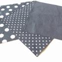 Mélykék pöttyös textilzsebkendő szett - 3 darabos, Ruha, divat, cipő, Férfiaknak, Kendő, sál, sapka, kesztyű, Varrás, A szett három darab zsebkendőt tartalmaz: egy mélykék alapon nagy fehér pöttyöset, egy mélykék alapo..., Meska