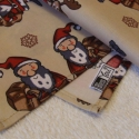 Mikulás és Rudolf - textilzsebkendő szett - 3 darabos, Dekoráció, Konyhafelszerelés, Karácsonyi, adventi apróságok, Karácsonyi dekoráció, Varrás, Ha Tél, akkor Mikulás! Ha Mikulás, akkor rénszarvas, ha rénszarvas, akkor Rudolf! A szett három dar..., Meska