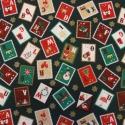 Karácsonyi bélyegek - textilzsebkendő szett - 3 darabos, Dekoráció, Konyhafelszerelés, Karácsonyi, adventi apróságok, Karácsonyi dekoráció, Varrás, Nemcsak bélyeggyűjtőknek:-) A szett három darab zsebkendőt tartalmaz: egy sötétzöld alapon karácson..., Meska