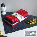 HÚSVÉT pirosan-kéken-fehéren-pöttyösen:-), Férfiaknak, Dekoráció, Húsvéti apróságok, Ünnepi dekoráció, Festett tárgyak, Varrás, Egy kis segítség a húsvéti előkészületben...pár szál tulipánnal az ünnepi asztal közepén máris Holl..., Meska