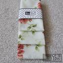 BALLAGÁSI Sírós:-) textilzsebkendő szett, rózsákkal - 3 darabos, Ruha, divat, cipő, Esküvő, Kendő, sál, sapka, kesztyű, Hajdísz, ruhadísz, Varrás, Közeledik a ballagások időszaka...nem győzzük rejtegetni meghatódottságunk, büszkeségünk, és egy ki..., Meska