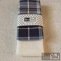 Somerset - FLANELL textilzsebkendő szett - 2 darabos, Ruha, divat, cipő, Szépségápolás, Férfiaknak, Kendő, sál, sapka, kesztyű, Varrás, Vigyél egy kis romantikát a mindennapokba! A szett két darab zsebkendőt tartalmaz: egy kékes - csík..., Meska